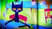 PETE the CAT FOUR GROOVY Buttons Book | Rocking in MY SCHOOL shoes reading out loud short