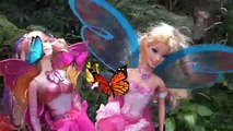 Elsa and Anna are Fairies #2 Anna and Elsa Toddlers real Barbie Fairies Flying Frozen Toys