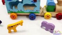 Apprendre formes et les couleurs pour enfants avec en bois Entrainer jouet