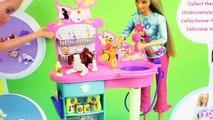 Et chien gelé pansage câlins enfants chiots mousse de savon jouets la lessive avec Elsa barbie disneycart