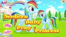 Et bébé tiret Robe Jeu petit faire faire mon nouveau née poney Princesse arc en ciel vers le haut en haut