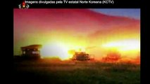 Imagens mostram exercício de artilharia de grandes proporções na Coreia do Norte