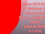 2016 D2 Féminines J19 ROUEN REIMS 0-1, le 23/04/2017