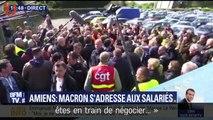 Macron sur le site de Whirlpool : son face à face tendu mais plutôt réussi avec les salariés