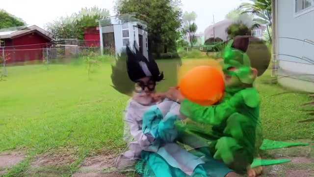 PJ MASKS Superheroes IRL CATBOY IN JAIL Romeo Episode Funny Superhero Gekko CATBOY JAIL Prison