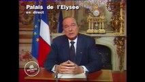 Allocution du président Jacques Chirac, en hommage au président François Mitterrand