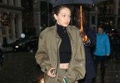Skinny Gigi Hadid Hides Her Frail Frame Under Large Coat