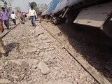 rajyarani expres train accident near rampur