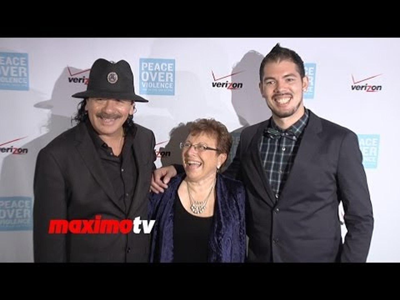 Carlos Santana, Salvador Santana, Jacqueline Bisset 42nd Annual HUMANITARIAN Awards