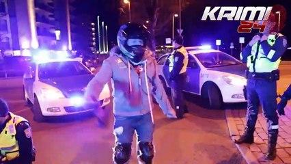 Un policier fait exprès de percuter une moto pour l'arrêter
