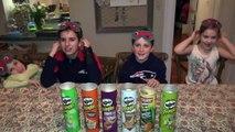 PRINGLES CHALLENGE! Guess POTATO CHIP Flavor . Food Tasting Contest-uvB