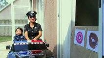 Police Drive Thru Dunkin Donuts w_ Catwoman, Princess Rapunzel, Snow White, Spiderman-Q_M7G