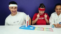 FANTASTIC GYMNASTICS CHALLENGE! Extreme Sour Warheads Candy - Toys AndMe Family Funny Video-GQ5RL