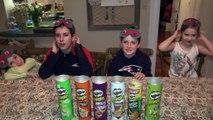 PRINGLES CHALLENGE! Guess POTATO CHIP Flavor . Food Tasting Contest-uvBDg