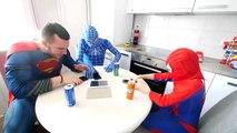 Hulk BREAKS Spiderman's Superman's PHONE! w_ Frozen Elsa Joker Gumball Machine Fun in Real Life-Hb7X
