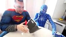Hulk BREAKS Spiderman's Superman's PHONE! w_ Frozen Elsa Joker Gumball Machine Fun in Real Life-Hb7XEKC