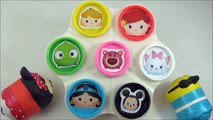 LEARN COLORS with Disney Tsum Tsums! Play doh Toy Surprise Cans, Disney ツムツム Toys-b4I