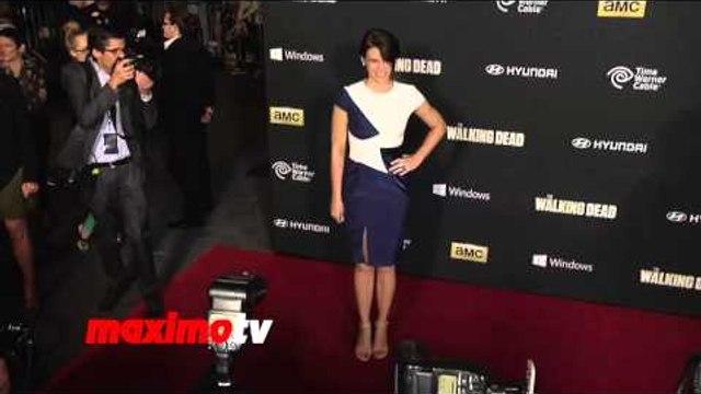 """Lauren Cohan """"The Walking Dead"""" Season 4 PREMIERE Red Carpet Arrivals"""