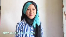 Tutorial Hijab Segi Empat Paris 2 Warna Untuk Pesta Kondangan Simple by #NMY Hijab Tutorials