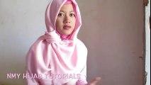 Tutorial hijab Masa Kini Segi Empat Saudia Yang Praktis terbaru 2016 by #NMY Hijab tutorials