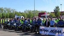 Rallye moto organisé par l'escadron de sécurité routière de la gendarmerie 65