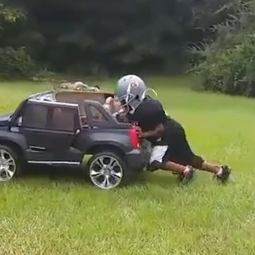 This Kid Is Already Training for the NFL