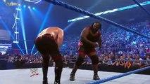Mark Henry Breaks Kane Leg WWE Smackdown 2011