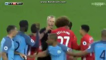 Fellaini Red Card For Fight With Sergio Aguero HD - Manchester City 0-0 Manchester United - 27...