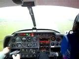 Attérrissage à Brest LFRB en DR400