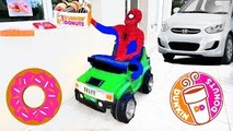 DUNKIN DONUTS DRIVE THRU Prank! w/ Spiderbaby Joker Iron Man Hulk Disney Cars in Real Life