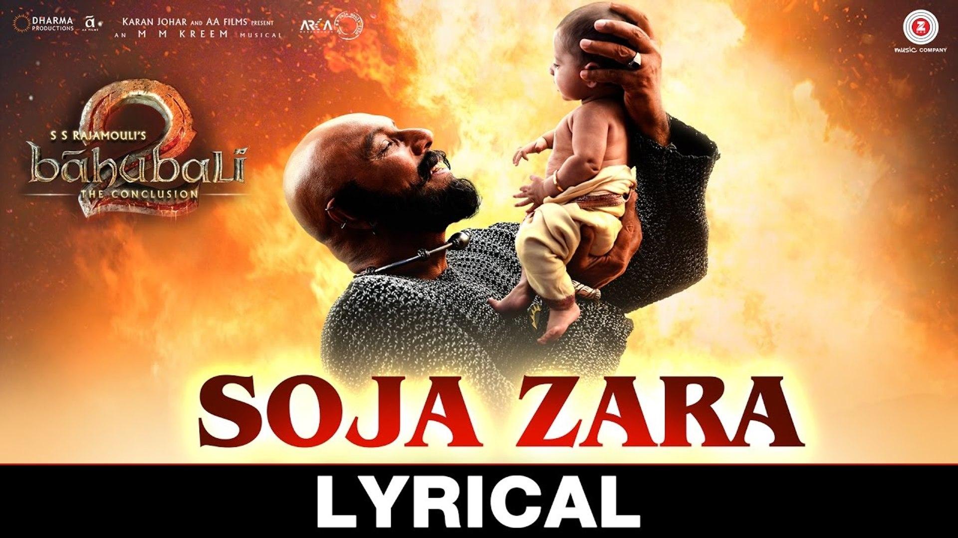 Soja Zara Lyrical Song Baahubali 2 The Conclusion 2017 Anushka Shetty Prabhas Satyaraj Video Dailymotion