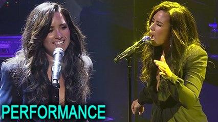 Demi Lovato Emotional Performance | TIME 100 Gala 2017