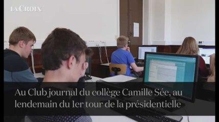 Présidentielle: lendemain de premier tour au Club journal du collège Camille Sée