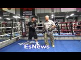 Boxing Champ Mikey Garcia Full Mitt Workout Amazing Power - EsNews Boxing
