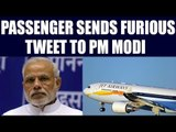 Jet Airways flight diverted, passenger sends furious tweet to PM Narendra Modi | Oneindia News
