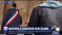 Emmanuel Macron est arrivé à Oradour-sur-Glane