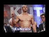 Anthony Joshua 250 pounds vs Wladimir Klitschko 240 ½  - who wins? EsNews Boxing