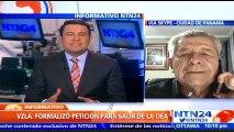 """""""Venezuela no honra sus compromisos internacionales"""": Arturo Vallarino, exembajador de Panamá ante la OEA, ante anuncio de la salida del organismo"""