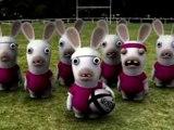 Le  haka des lapins crétins