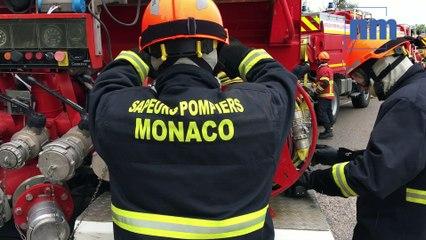 Les pompiers de Monaco s'entraînent au combat des feux de forêt