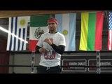 EPIC - Hand Speed - Vasyl Lomachenko Doing Drills In Mike Tyson Shorts  EsNews Boxing