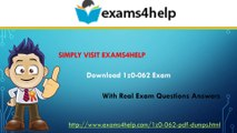 1z0-062 Real Exam Questions Answers & 1z0-062 PDF Dupms