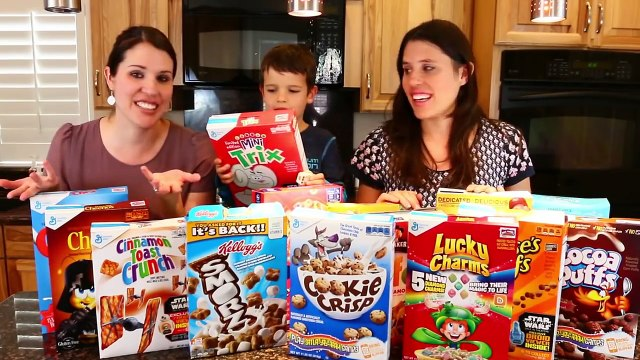 Cookie CHALLENGE Game Huge Surprise Prizes Spongebob Party Ideas + DisneyCarToys Cereal Challenge