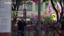 Disturbios en Brasil dejan autobuses incendiados y fuertes enfrentamientos
