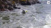Ils s'écrasent contre les rocher avec leur bateau hors-bord