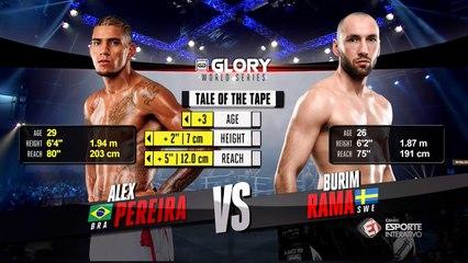 VOLTA PARA ESTOCOLMO! Alex Pereira vence Burim Rama e avança para a final