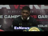 Anthony Joshua On Rematch With Klitschko And Next Fight  EsNews Boxing