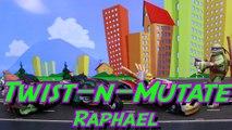 Teenage Mutant Ninja Turtles Twist-N-Mutate Raph Tigerclaw Steals Hot Rod Robot Mikey and Leo Attack-R