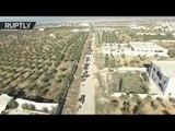 RAW: Civilians flee from militant-held E. Aleppo