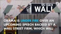 Politicians slam Obama's $400K Wall Street speech